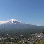 Die Aussicht auf den Fuji vom Berg Tenjo aus.