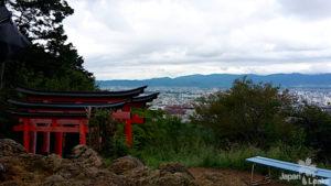 Foto mit Aussicht auf Kyoto vom Fushimi Inari Schrein.