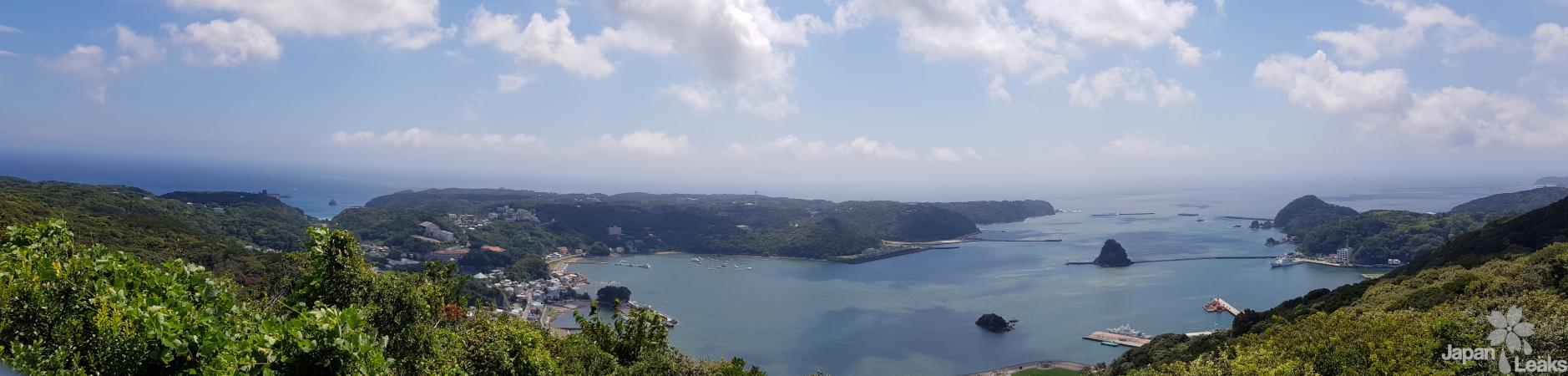 Ausblick auf die Küste Shimodas.
