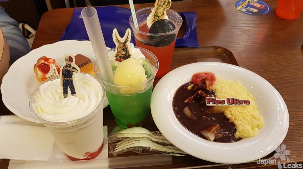 My Hero Academia Menü im Animate Cafe.