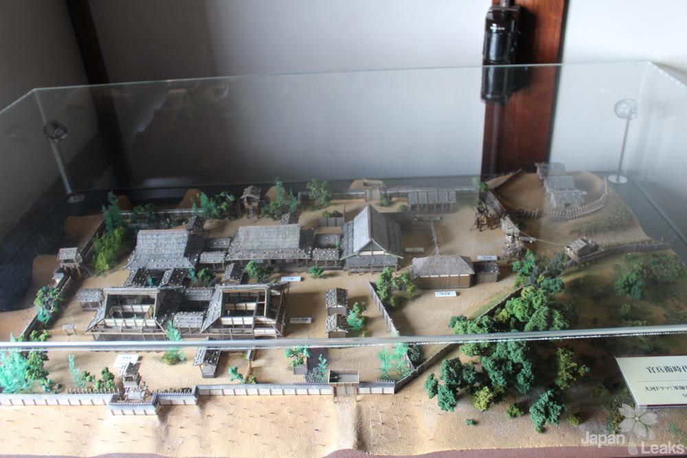 Modell von den Anfängen der Burg Himeji
