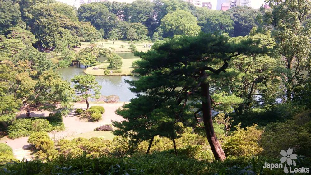 Ansicht des Rikugien Parks in Bunko-ku.