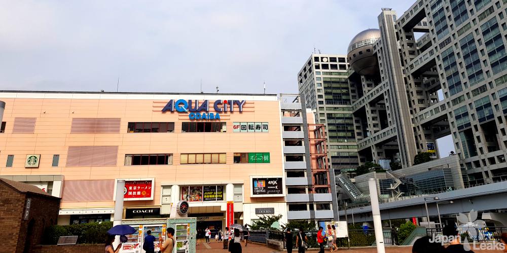 Das Einkaufszentrum Aqua City in Odaiba.