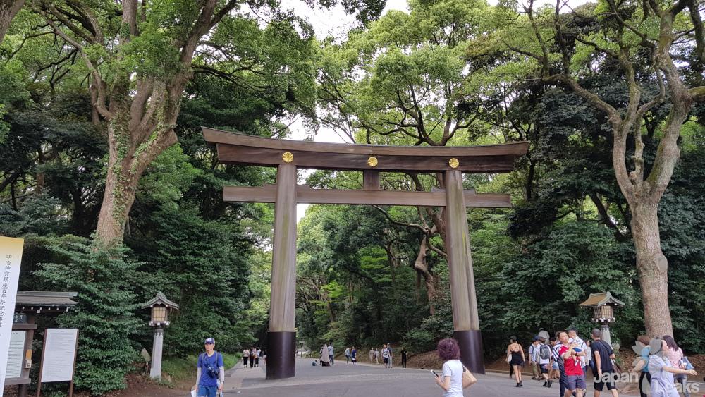 Ein Torii des Meiji-Schreins.