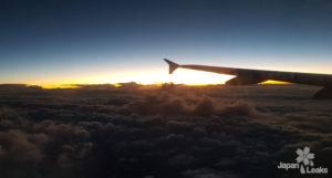 Aufnahme aus dem Fenster eines Flugzeugs