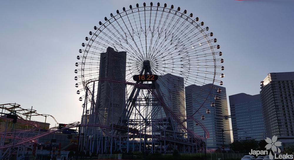 Foto des Riesenrads im Hafen von Yokohama.