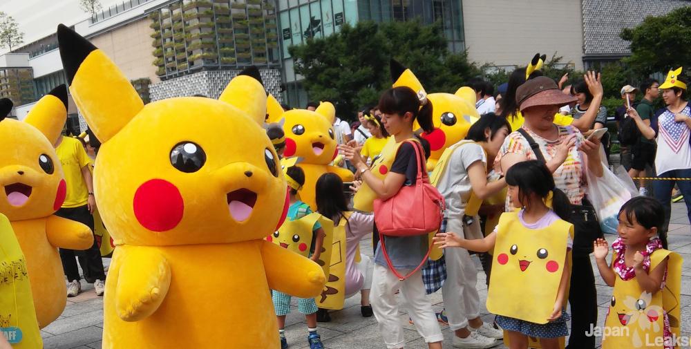 Foto von der Pikachu Parade in Yokohama.
