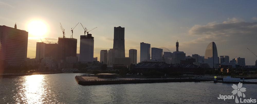 Foto der Skyline Yokohamas.
