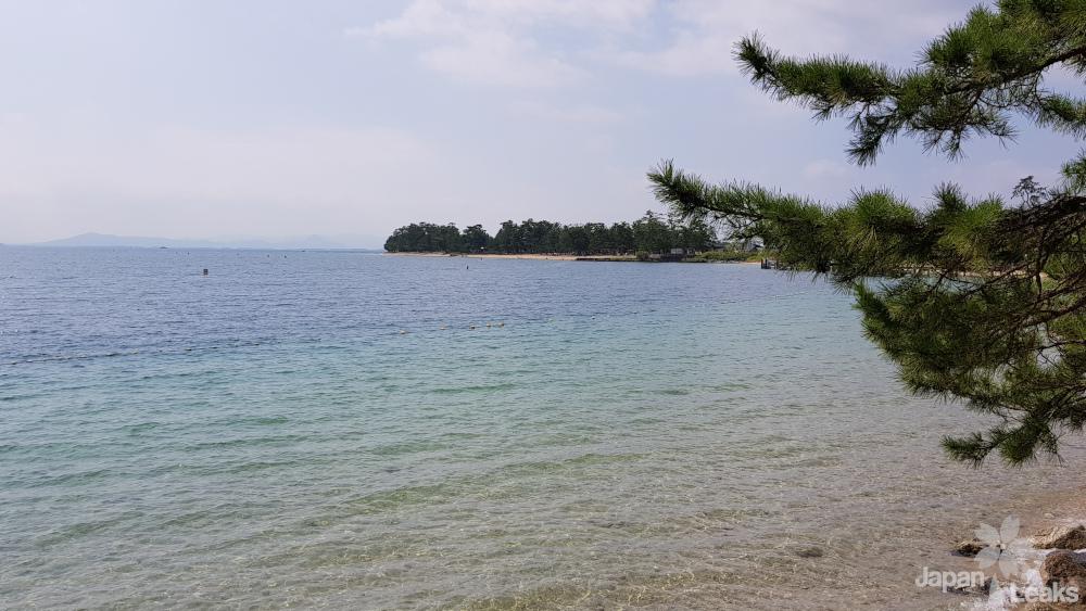Ein Blick über den Biwako See, den größten See in Japan.