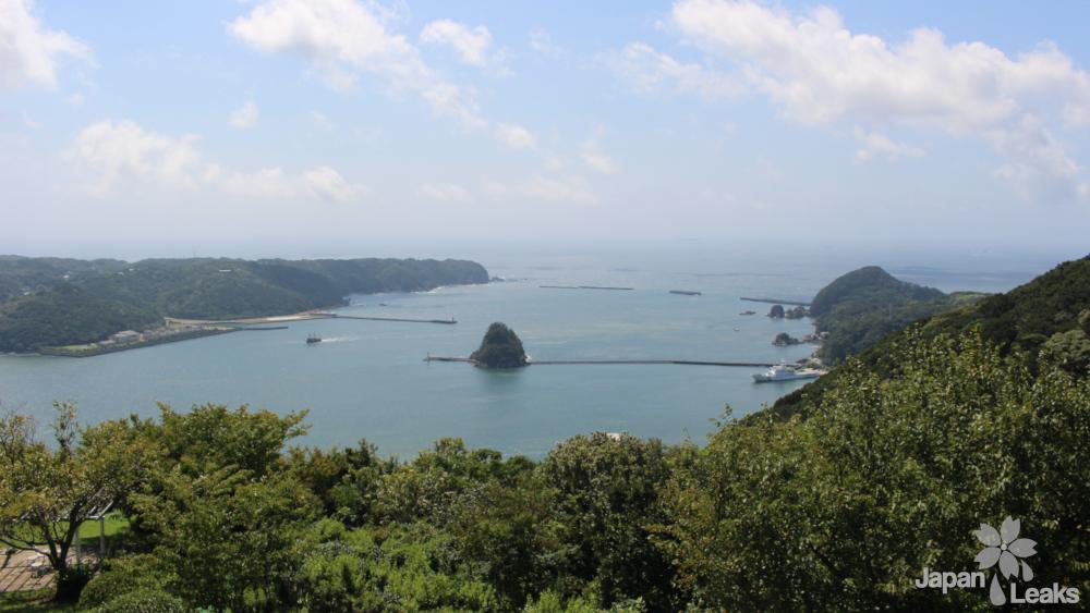 Blick auf eine Bucht bei Shimoda