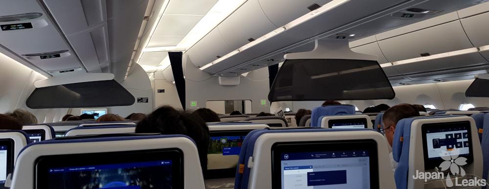 Inneres eines Flugzeugs.