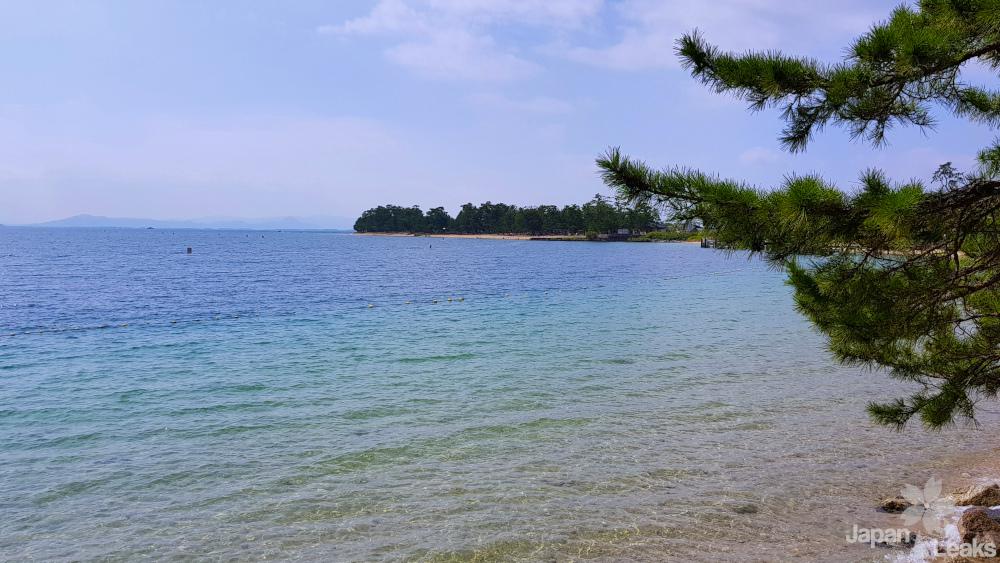Sicht auf den Biwako vom Strand