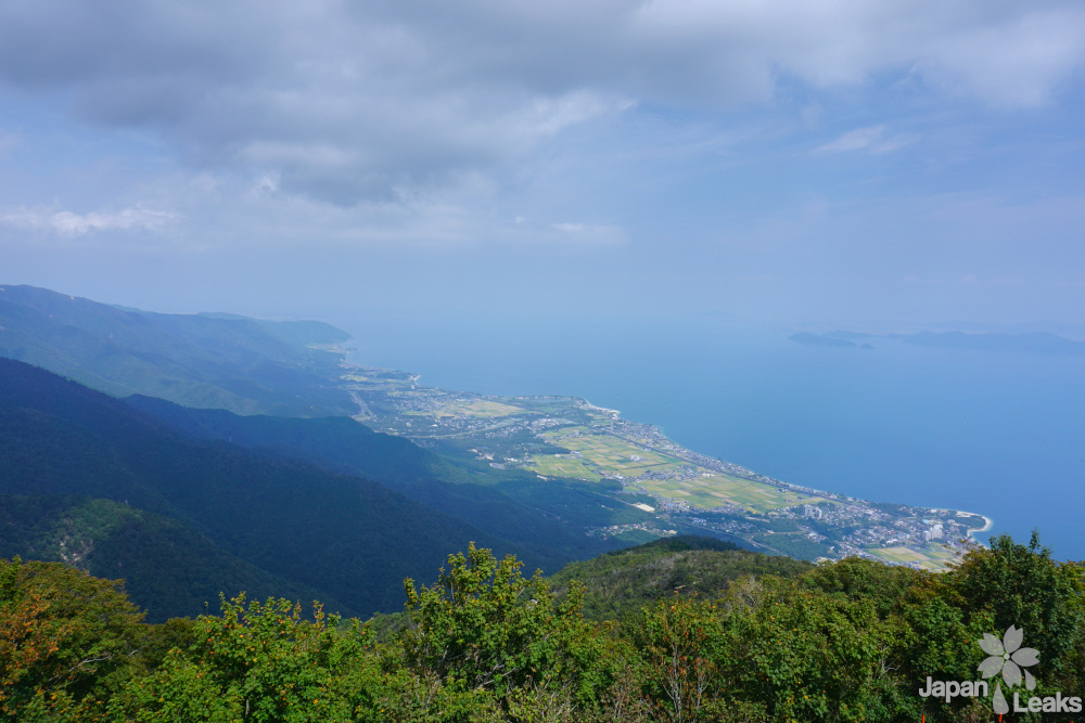 Aussicht auf Ōmi-Maiko und den Biwako vom Horai
