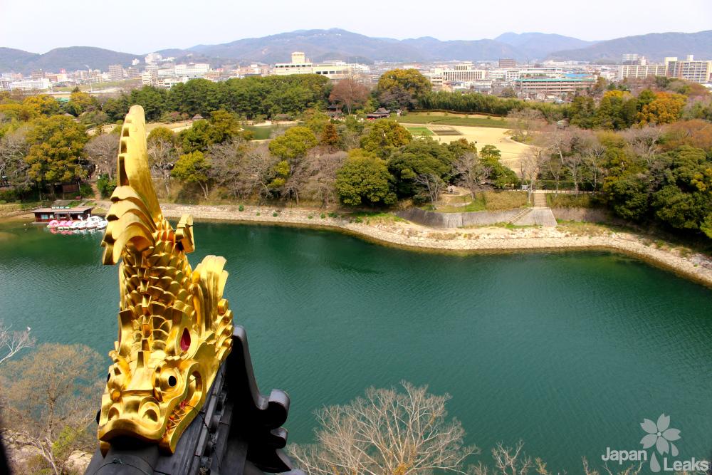 Aussicht aus der Burg Okayama