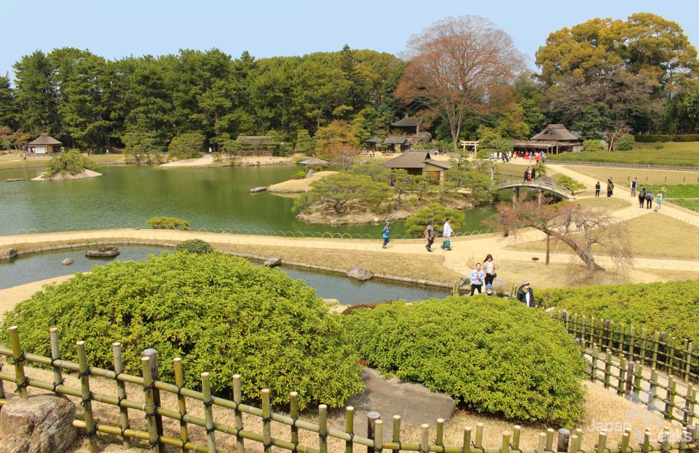 Foto von der Aussichtsplattform des Koraku-en in Okayama