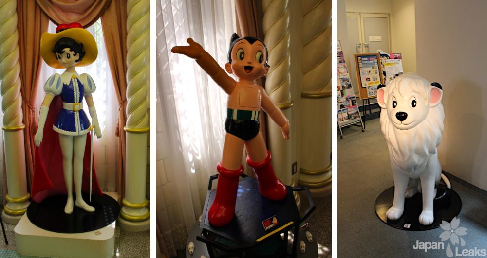 Foto verschiedener Figuren im Osamu tezuka Manga Museum.