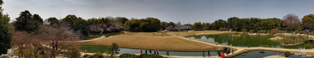 Panorama Foto des Parks in Okayama