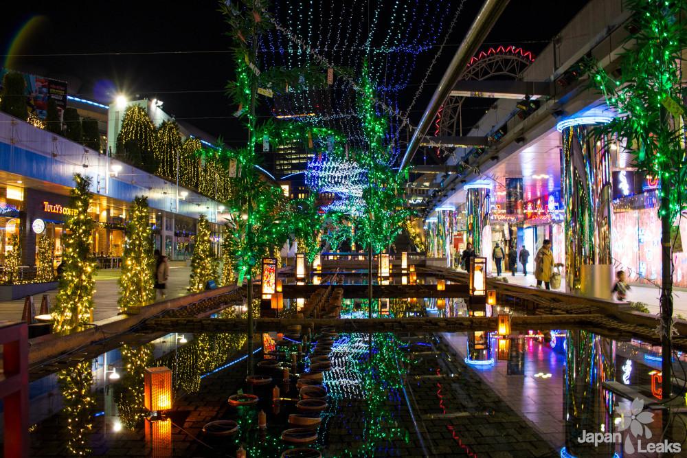 Weihnachtliche Beleuchtung am Tokyo Dome
