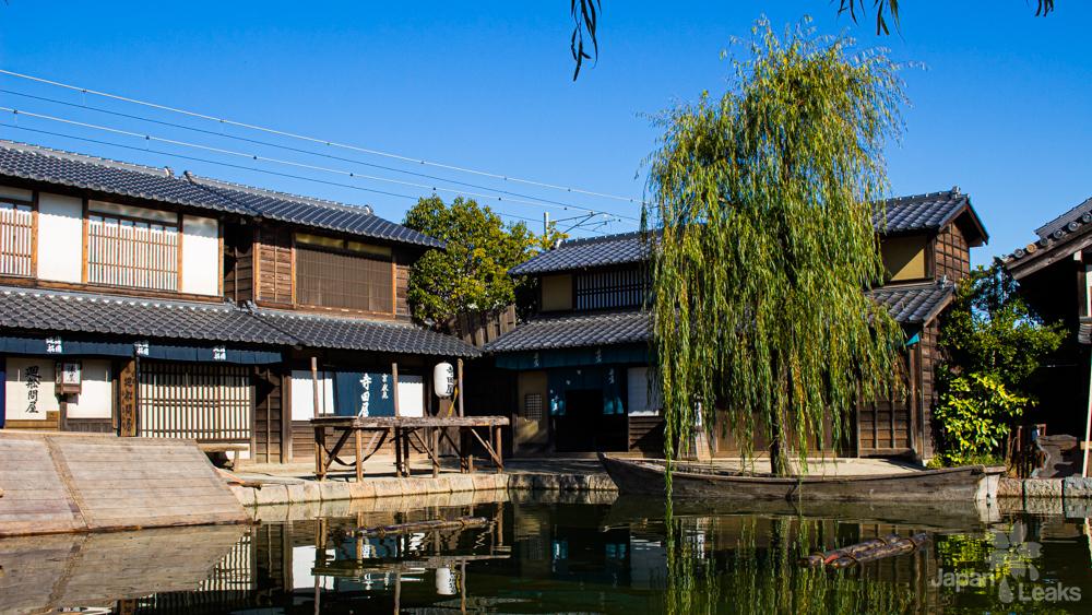 Teil des traditionelen Sets im Toei Studio Park.