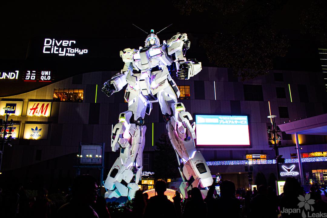Foto des lebensgrpßen Gundams auf Odaiba.