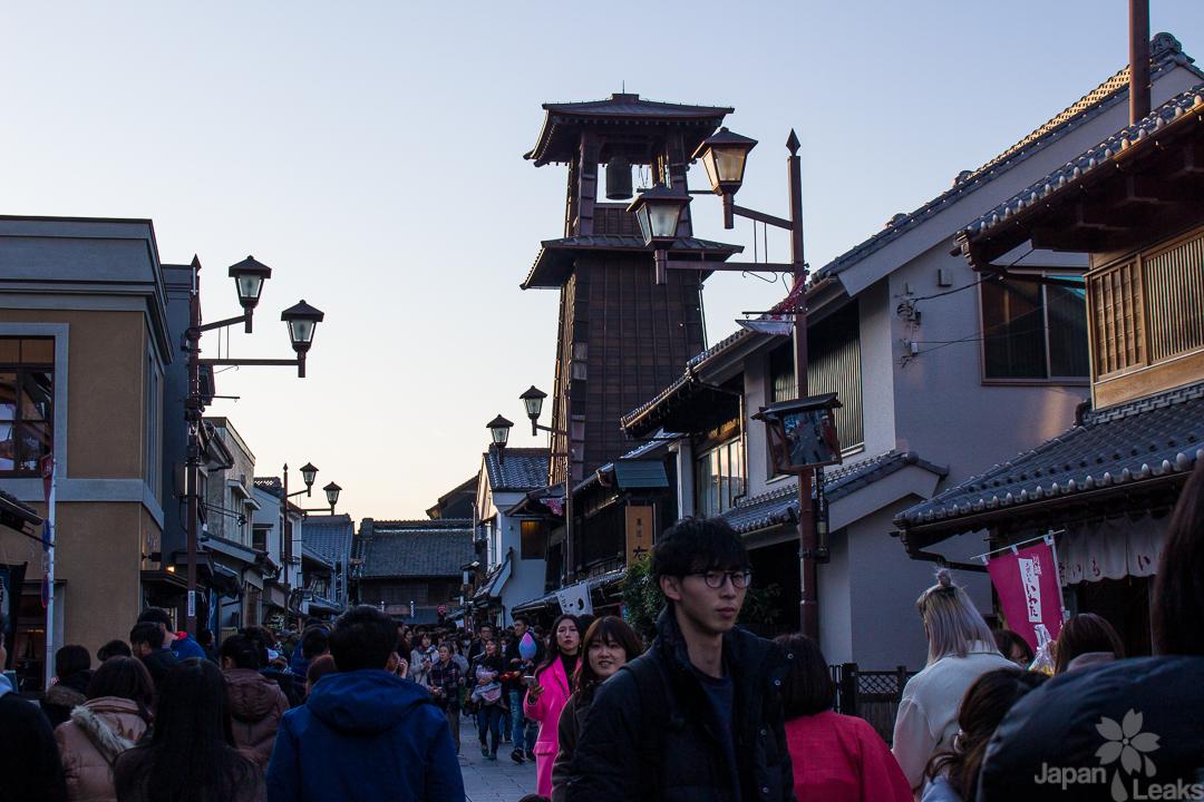 Altstadt und Glockenturm in Kawagoe